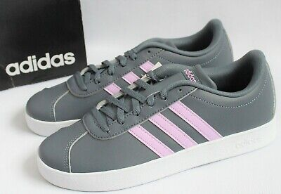 adidas Big Girls/Youth Size 6M VL Court 2.0 Athletic Shoes Onix/Lilac B75694