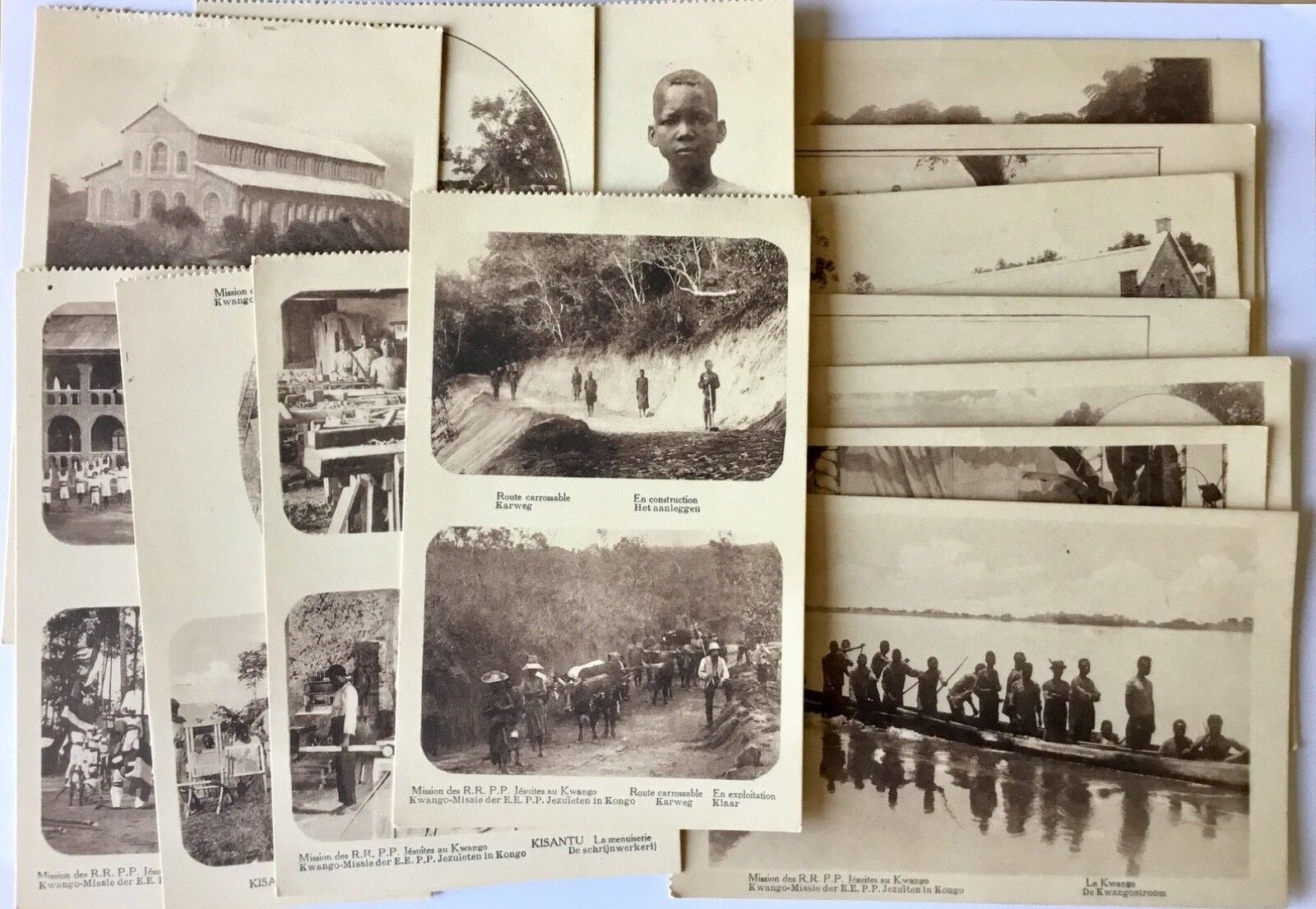 lot of 14 Old picture Postcard provine Kwango D.R. CONGO first half 20th Century
