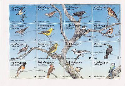 GEORGIA - BIRDS, 1996 - SC 140 SHEETLET OF 16 MNH