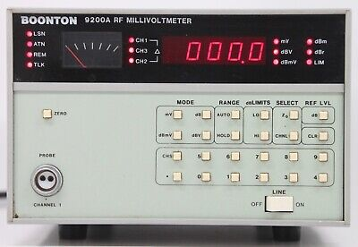Boonton 9200a Rf Millivoltmeter