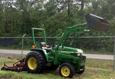 2007 John Deere 790 Diesel Tractor Front Loader 30hp Excellent 4x4