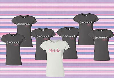 Bridesmaids Personalized T-shirt package, Bridal ,Bachelorette Party Bridal Party Personal Package