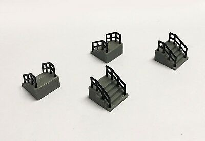 Outland Models Railway Layout Building Entrance Stairs 4 pcs HO Scale 1:87