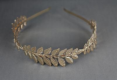 Gold shiny Laurel Leaf crown Leaves headband hair band greek toga roman costume - Roman Leaves