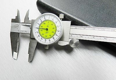 "iGaging Fractional Dial Caliper 6"" Inside Outside Depth Guage Reads 0.01 - 1/64"""