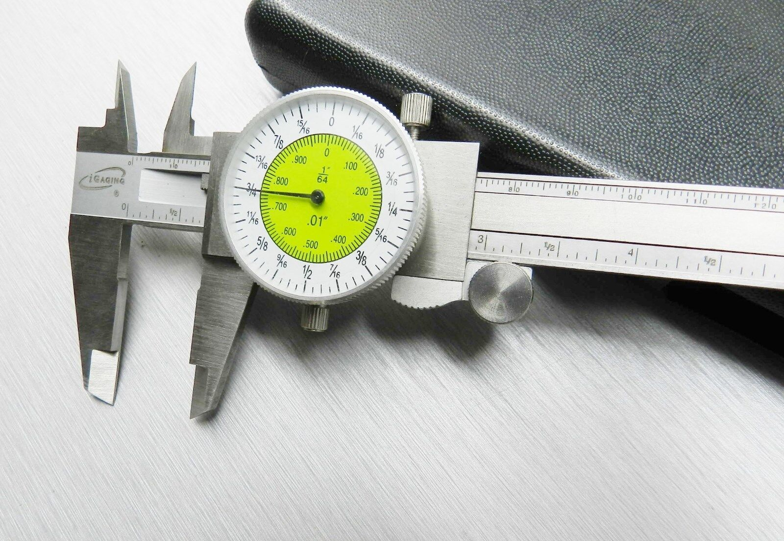 """iGaging Fractional Dial Caliper 6"""" Inside Outside Depth Guage Reads 0.01 - 1/64"""""""
