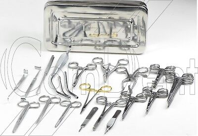 Surgical Tracheotomy Set Plastic Surgery Set Tissue Dissection Set In Box