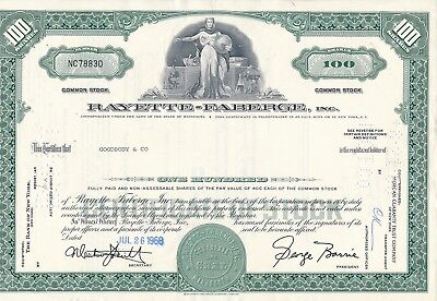 Rayette-Faberge Inc., 26.7.1968, 100 Shares, No. NC78830, Goodbody