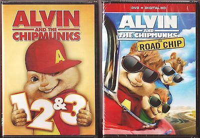 Alvin and The Chipmunks Collection 1, 2, 3 & 4 - DVD Movies BRAND