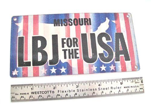 "Vintage 1964 MISSOURI ""LBJ FOR THE USA"" Flicker Sign"