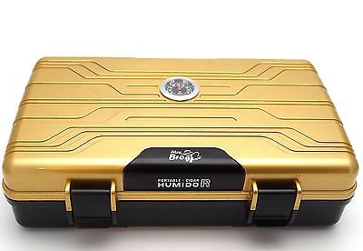 Waterproof Cigar Travel Humidor for 10 Cigars - Integrated Hygrometer and Hum...