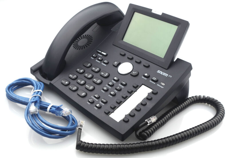 Snom 370 Voip Large Screen Ip Phone
