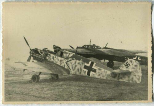 01809 German WWII Archive Photo Messerschmitt BF 109 & Dornier Do 17 Aircrafts