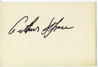 ARTHUR SPACE Signed Autograph GEORGE REEVES ' SUPERMAN Lassie ABBOTT & COSTELLO