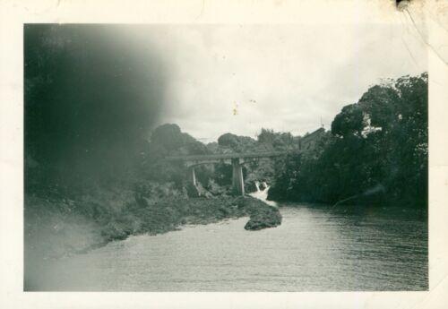 July 3-4 1940 US Navy USS Detroit at Hilo Hawaii Photo #5 bridge, Rainbow Falls