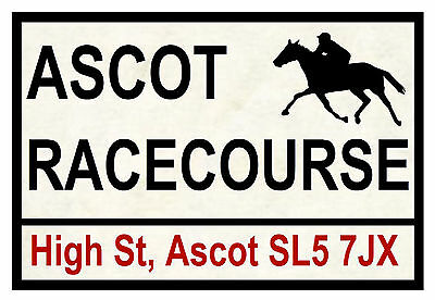 HORSE RACING ROAD SIGNS (ASCOT) - FUN SOUVENIR NOVELTY FRIDGE MAGNET - GIFT