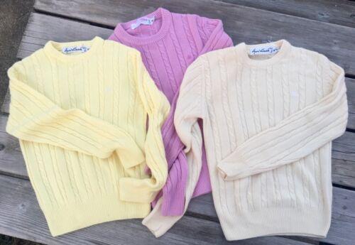 Vintage Girls Gloria Vanderbilt Sweaters (THREE SWEATERS!) Youth Medium