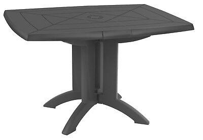 Weiße Terrasse Tisch (Ondis24 Gartentisch Balkontisch Terrassentisch Vega 118 Kunststoff pflegeleicht)