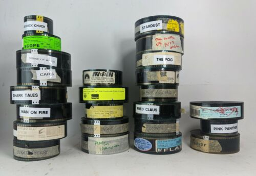 Lot of 24 Movie Trailer Film Cells Theater 35mm Preview Comedy Drama Action