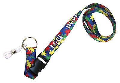 Autism Awareness Release Clip Lanyard