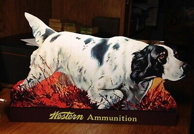 with Moose Standing Advertising Die Cut REPRO Western Ammunition Co