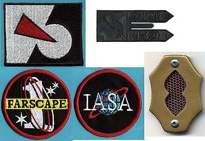 Farscape Patch & Badge Collection: Farscape 1, IASA, Peacekeeper Logo, Comm Set
