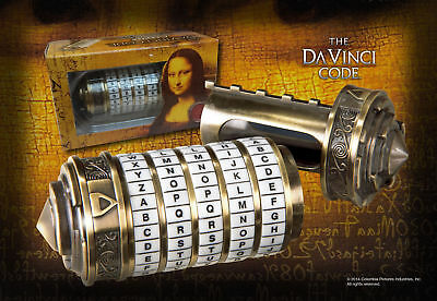 Dan Brown The Da Vinci Code Mini Cryptex movie scale Prop Rep...