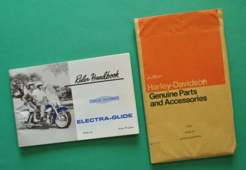Original 1965 Harley Electra Glide Panhead FL FLH Rider Hand Book Owners Manual
