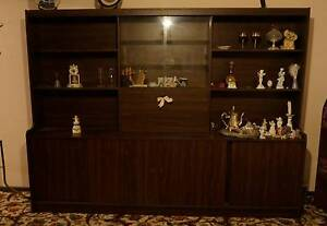 Large Vintage Wooden Display Cabinet Noble Park Greater Dandenong Preview