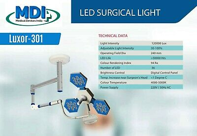 Surgical Led Light Ceiling Mobile Wall Mounted Led 36 Operating Area 240mm