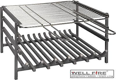 Wellfire Grillzubehör Grilleinsatz mit Feuer-&Grillrost für LANDAU 27x48,5x40 cm