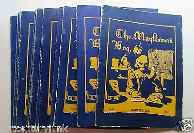 RARE Mayflower's Log Magazine Vol 1-16 w/ President Calvin Coolidge Inauguration