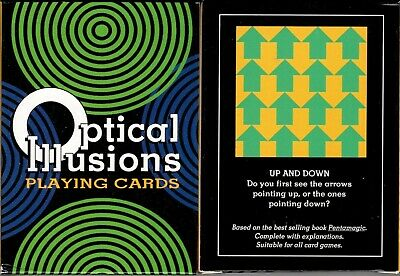 Optical Illusions Playing Cards Poker Size Deck USGS Custom New