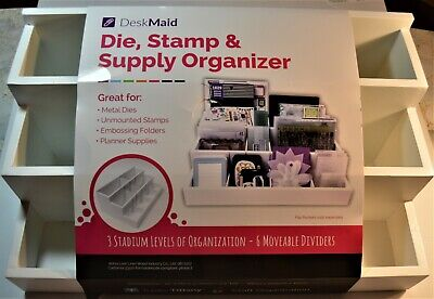 Organizer Desk Maid Supply Adjustable Wood New