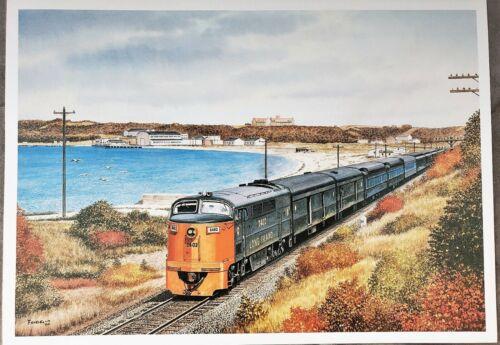 Long Island Railroad (LIRR) C-Liner 2402 Montauk Area - Print by Howard Fogg