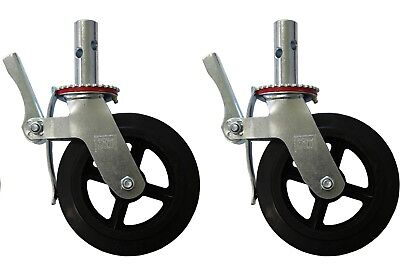 Cbm Scaffold 2 Scaffold 8 Caster Wheels Double Locking Brake 800 Lbs Capacity