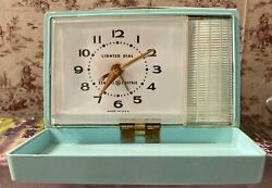 Trip-Mate Travel Alarm Clock, Turquoise, General Electric, Lighted Dial, 7274