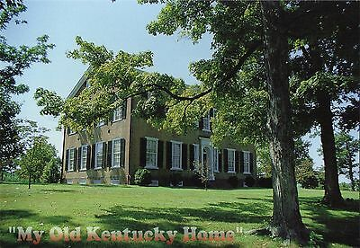 Stephen Foster Old Kentucky Home (Postcard My Old Kentucky Home Federal Hill Bardstown Stephen Foster Rowan MINT)