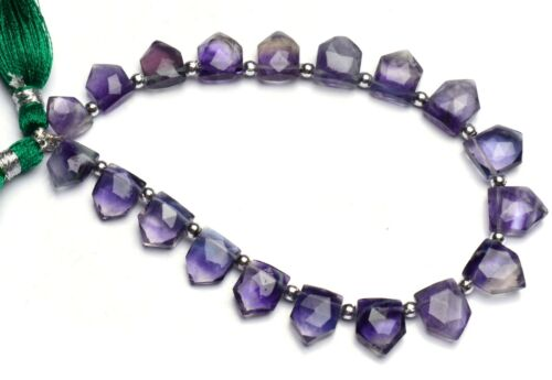 """Natural Gem Rainbow Fluorite 9x6 to 11x9mm Size Faceted Briolette Beads 9"""""""