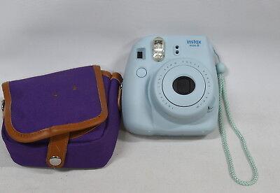 Fujifilm Instax Mini 8 Camera - Ice Blue - With Case