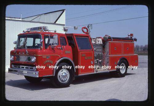 Lynwood IL 1981 Ford C FMC pumper Fire Apparatus Slide
