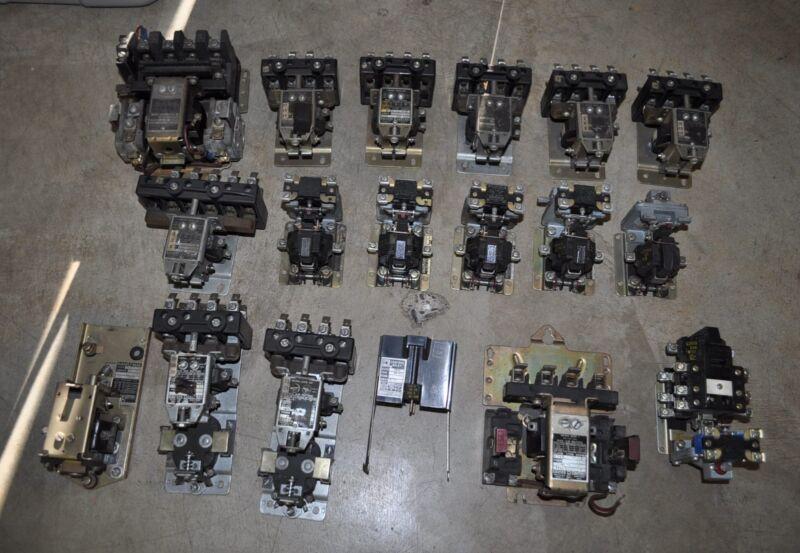 Large Lot of Square D Timing Relays A0-40 A0-1E CA0-3 DE0-42 B0-1E