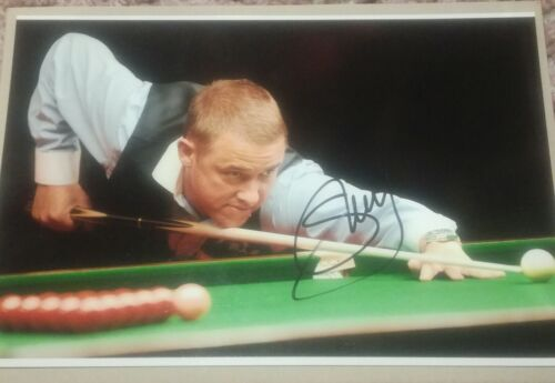 Steven Hendry Hand Signed Photo 12x8 Snooker Crucible