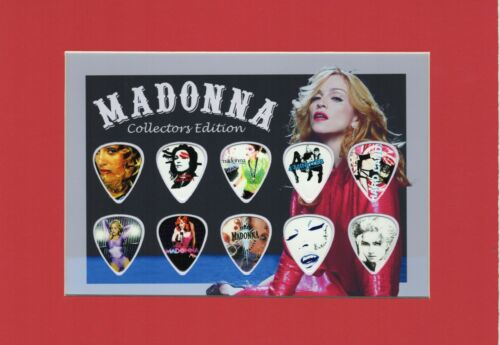 Madonna Matted Picture Guitar Pick Set Collectors Edition Vogue Like A Virgin