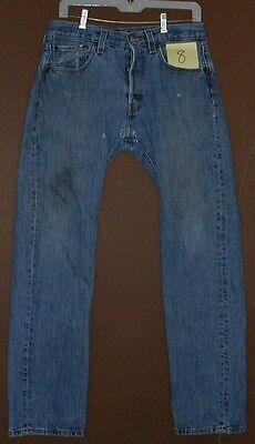 Mens 501 Levi Denim Straight leg Jean 32-32 Used Holes Worn Clean Classic
