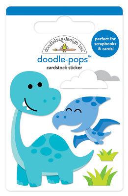 Scrapbooking Crafts DB Doodle-pop CS Sticker Dino-Mite Baby Dinosaur Bird Cloud
