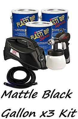 3 Gallons Matte Black Performix Plasti Dip Dyc Dipsprayer Gun Bundle Kit