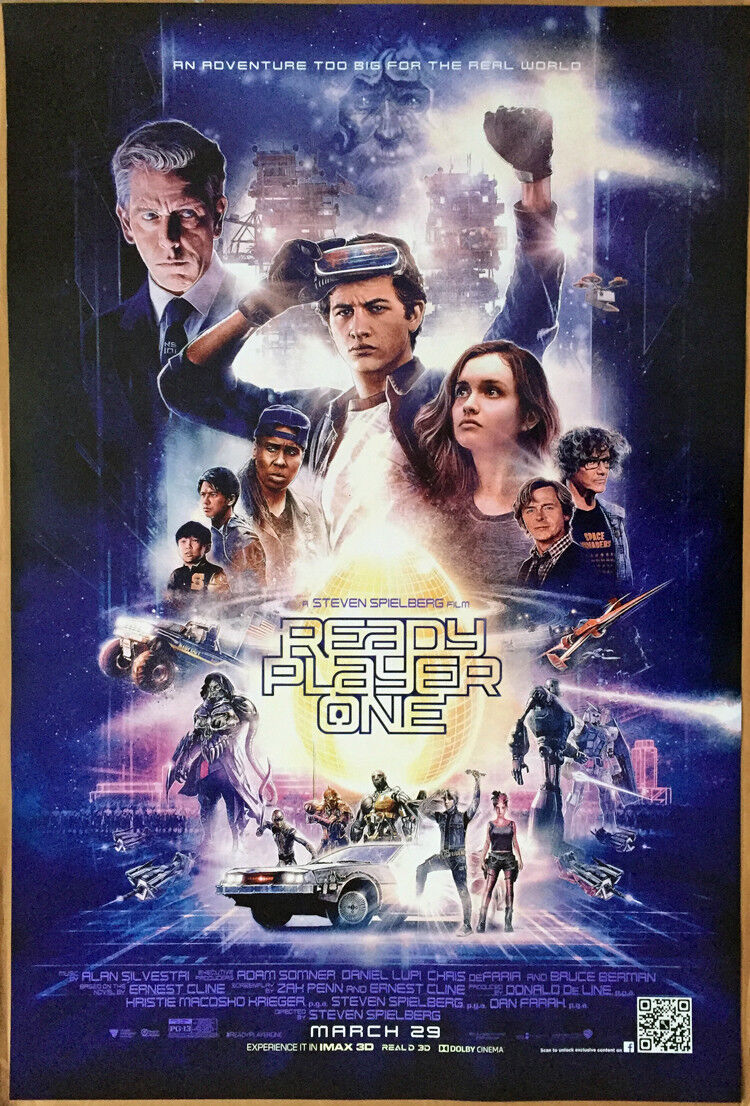 READY PLAYER ONE MOVIE POSTER 2 Sided ORIGINAL RARE FINAL 27
