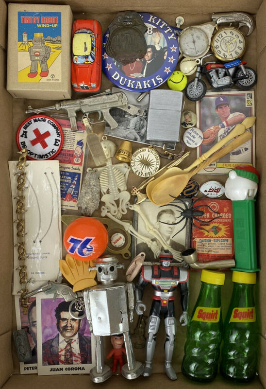 Old Stuff Vintage Junk Drawer Lot Miscellaneous Variety Group