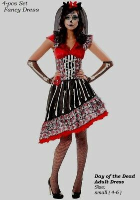 Woman Day of the Dead cinco de  mayo Senorita  Mexican Dress Halloween Costume](Cinco De Mayo Costumes For Women)